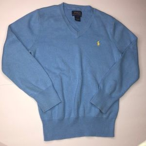 Boys polo Ralph Lauren sweater Sky blue size 7